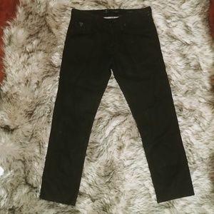 Guess slim black jeans